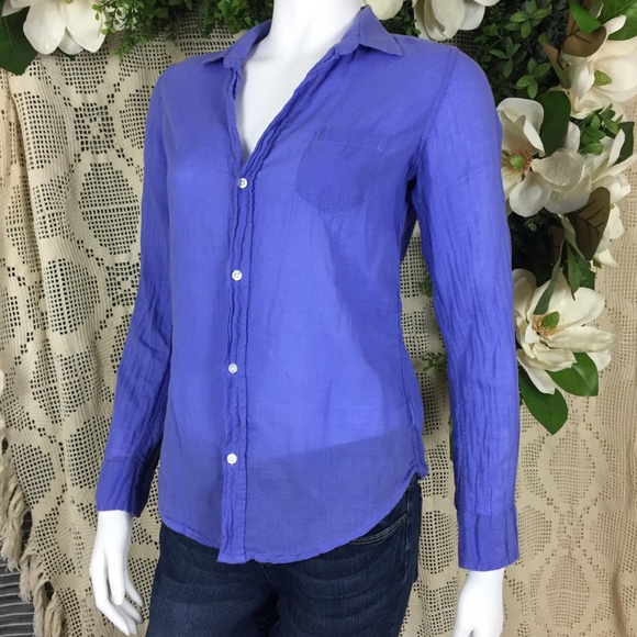 Frank & Eileen Tops - Frank & Eileen Purple Barry Button Down Top